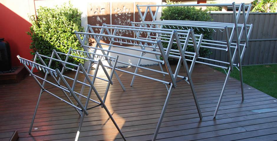 versatile sized portable aluminium clothes airer