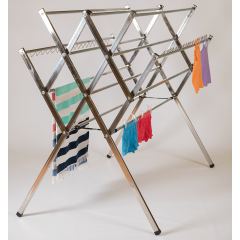 Maxi stainless steel clothes airer drying rack