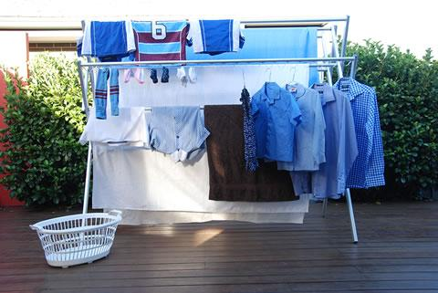 Huge capacity clothes drying rack comfortably accommodate sheets and towels as well as more