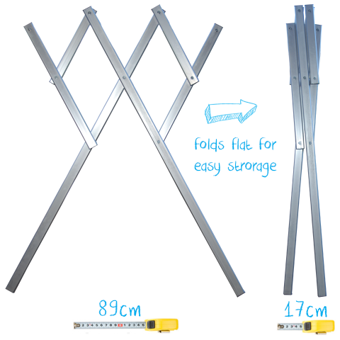 folding mobile portable clothes airer dryer rack