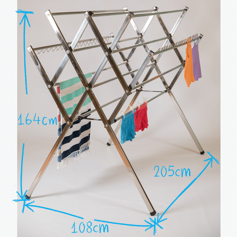 large clothes horse, dryer huge capacity