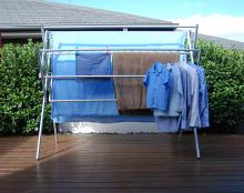 Maxi clothes airer drying rack