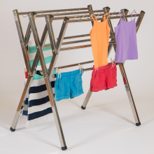 Mini stainless steel clothes airer drying rack